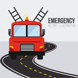 Emergency design, vector illustration. Royalty Free Stock Photos