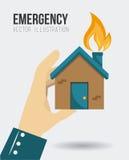Emergency design, vector illustration. Royalty Free Stock Image