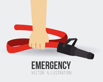Emergency design, vector illustration. Emergency design over white background, vector illustration Royalty Free Stock Photos
