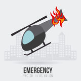 Emergency design, vector illustration. Royalty Free Stock Images