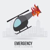Emergency design, vector illustration. Royalty Free Stock Images