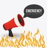 Emergency design, vector illustration. Stock Image