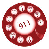 Emergency dial disk Royalty Free Stock Photography