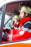 Emergency doctor and nurse driving Royalty Free Stock Photo