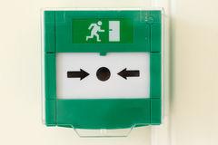 Emergency door release Stock Photography