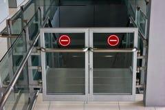 Emergency door Royalty Free Stock Image