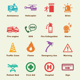 Emergency elements. Vector infographic icons Stock Image