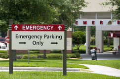 Emergency entrance Royalty Free Stock Photos