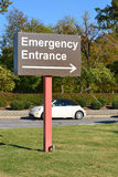Emergency Entrance Sign Stock Images
