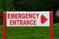 Emergency entrance sign Royalty Free Stock Photos