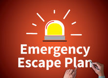 Emergency Escape Plan stock photography