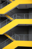 Emergency escape stairs. Of modern building Stock Photography