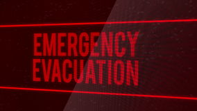 Emergency Evacuation stock video