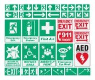 Emergency Evacuations Sings. Vector pack of different Emergency Evacuations Sings Stock Photography