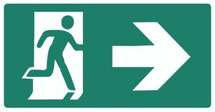 Emergency exit. Green label isolated  illustration Royalty Free Stock Photo