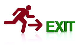 Emergency exit Stock Image