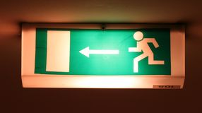 Emergency exit Stock Images
