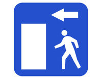 Emergency exit Stock Photography