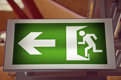 Emergency Exit on the airport Stock Images