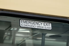 Emergency Exit Bus Sign Royalty Free Stock Photography