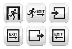 Emergency exit  buttons set Stock Images
