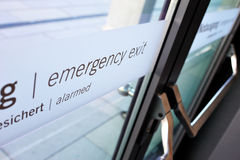 Emergency exit door Stock Photography