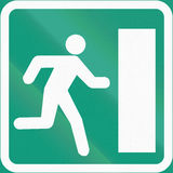 Emergency Exit In Finland Royalty Free Stock Photography