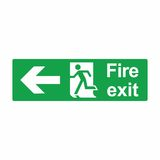 Emergency exit or fire exit sign vector design. Isolated on white background Stock Photography