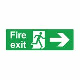 Emergency exit or fire exit sign vector design. Isolated on white background Royalty Free Stock Image