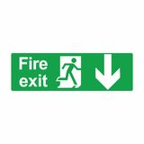 Emergency exit or fire exit sign vector design. Isolated on white background Royalty Free Stock Photo