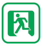 Emergency exit icon Stock Photography