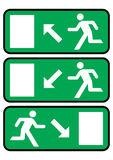 Emergency exit icon Royalty Free Stock Images