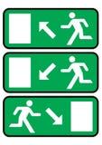 Emergency exit icon vector illustration
