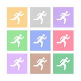The emergency exit icon set Vector EPS10, Great for any use. Stock Photo