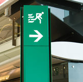 Emergency exit. In international airport Royalty Free Stock Photos