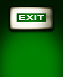 Emergency exit lamp Stock Images