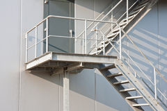 Emergency exit of a modern factory Stock Photos