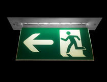 Emergency exit neon sign Stock Image