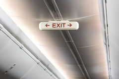 Emergency Exit Row In Airplane. Royalty Free Stock Photos
