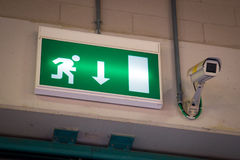 Emergency exit and Security Camera Royalty Free Stock Photography