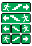 Emergency exit sign Stock Image