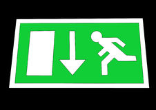 Emergency exit sign. Green Emergency exit sign illustration Royalty Free Stock Images