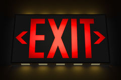 Emergency Exit Sign. In the Dark Royalty Free Stock Photo