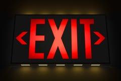 Emergency Exit Sign stock illustration