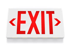 Emergency Exit Sign. On White Background with clipping path Stock Photos