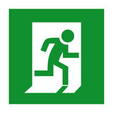 Emergency exit sign. Vector clip art Royalty Free Stock Photography