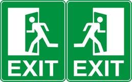 Emergency exit sign.  royalty free illustration