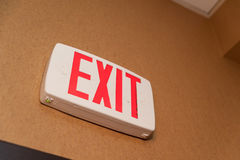 Emergency exit sign Royalty Free Stock Photos