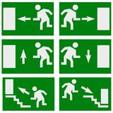 Emergency exit sign concept poster. High quality  graphic poster. You can use this picture for all your needs such as web pages, posters, presentations and other Stock Images