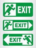Emergency exit sign. Vector illustration Royalty Free Stock Photography
